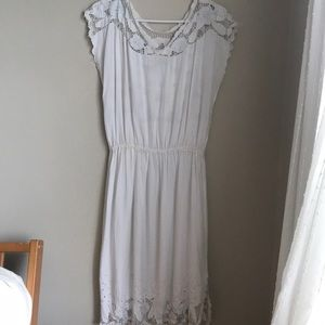 Vintage Floral Embroidered Sundress